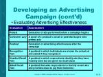 developing an advertising campaign cont d35