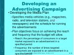 developing an advertising campaign18
