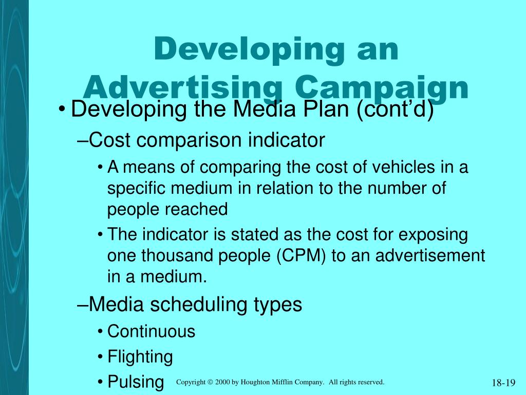 Developing an Advertising Campaign