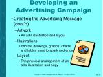 developing an advertising campaign32