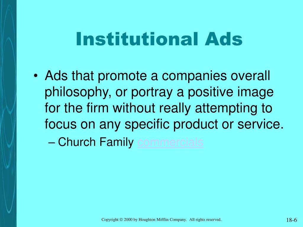 Institutional Ads
