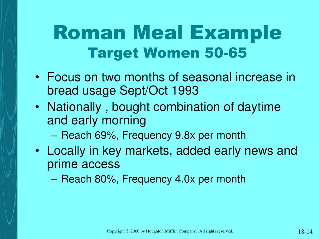 Roman Meal Example