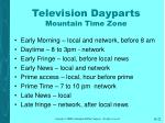television dayparts mountain time zone