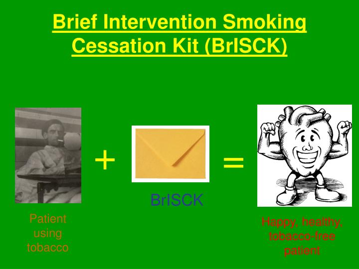 Brief intervention smoking cessation kit brisck