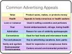common advertising appeals
