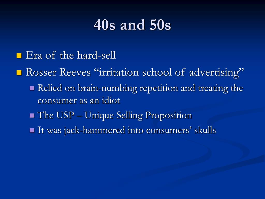 40s and 50s