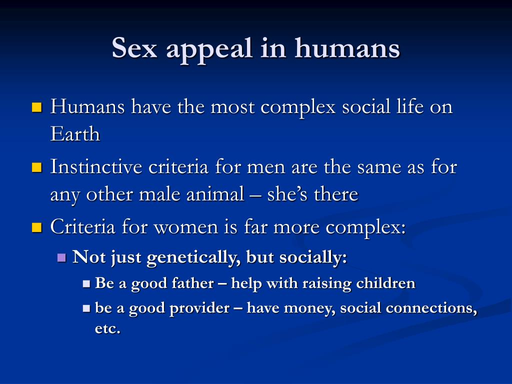 Sex appeal in humans