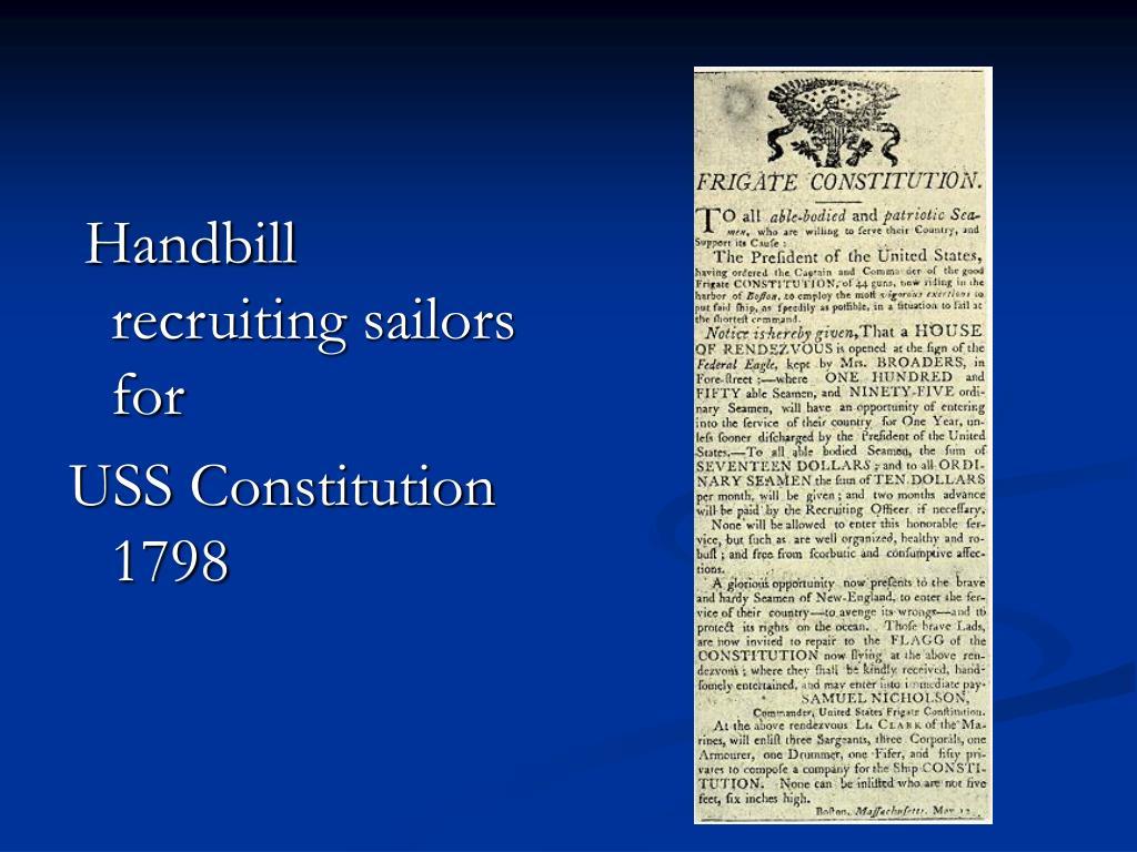 Handbill recruiting sailors for