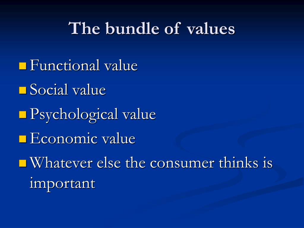 The bundle of values