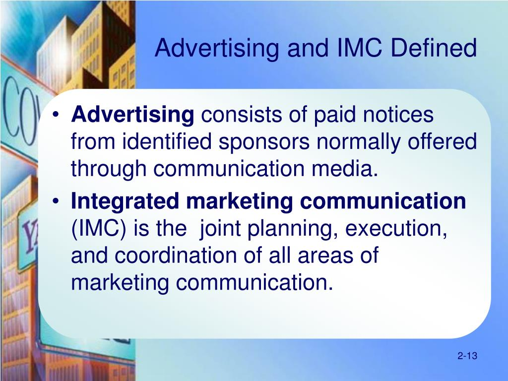 Advertising and IMC Defined