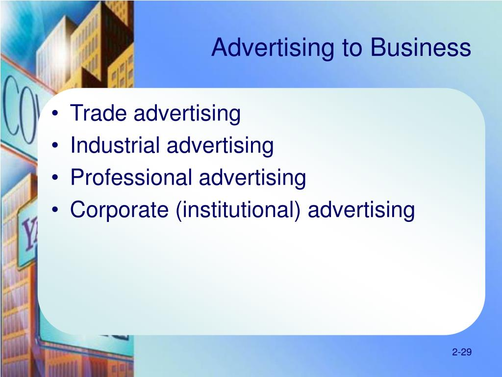 Advertising to Business