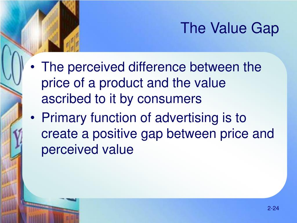 The Value Gap