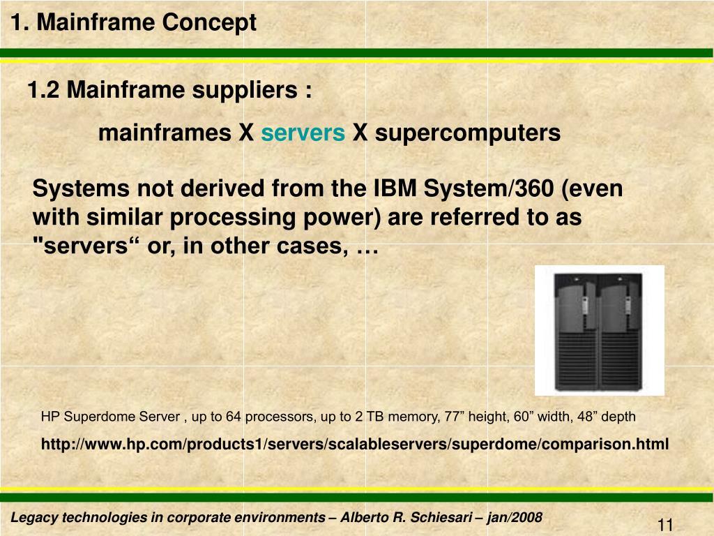 1. Mainframe Concept