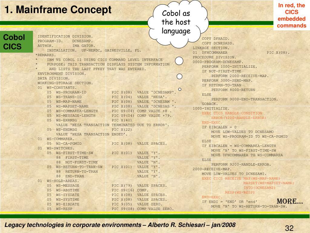 Cobol as the host language