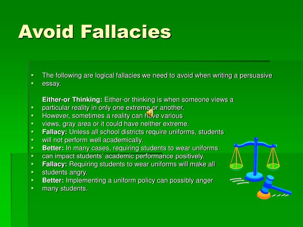 Avoid Fallacies