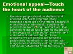 emotional appeal touch the heart of the audience