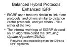 balanced hybrid protocols enhanced igrp
