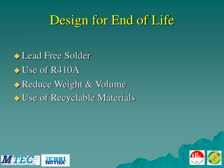 Design for End of Life