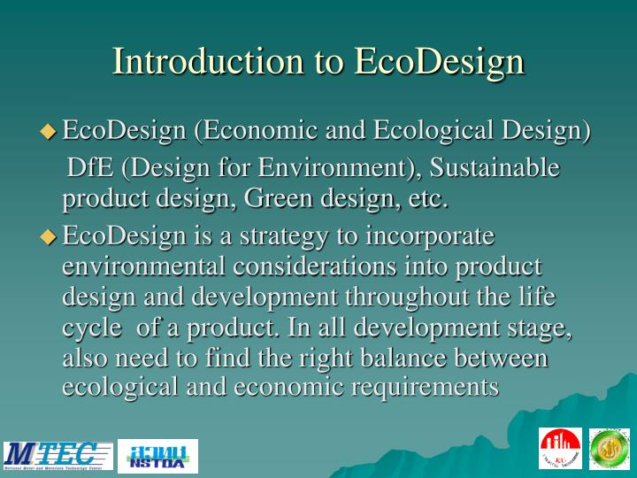 Introduction to EcoDesign