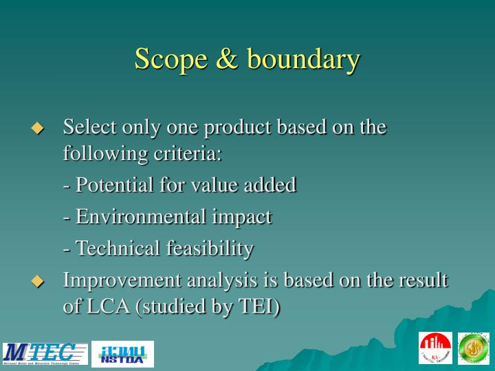 Scope & boundary