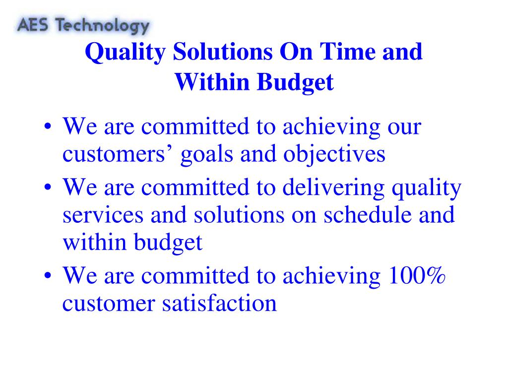 Quality Solutions On Time and
