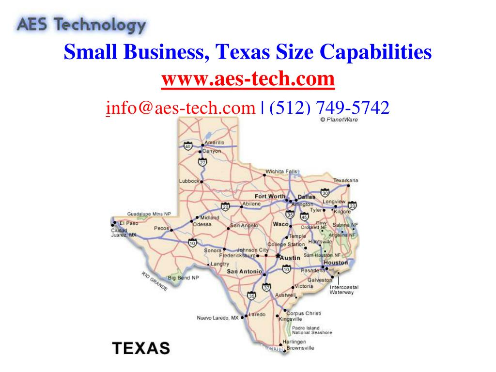Small Business, Texas Size Capabilities