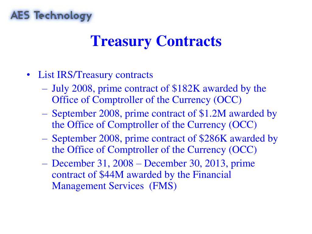 Treasury Contracts