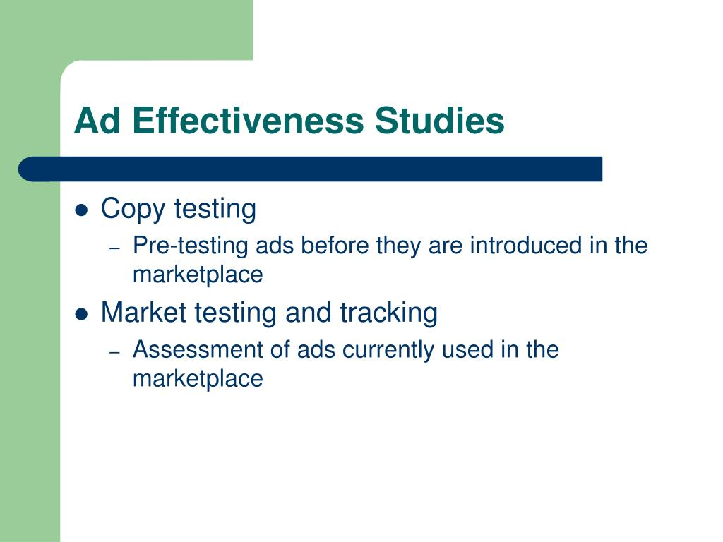 Ad Effectiveness Studies