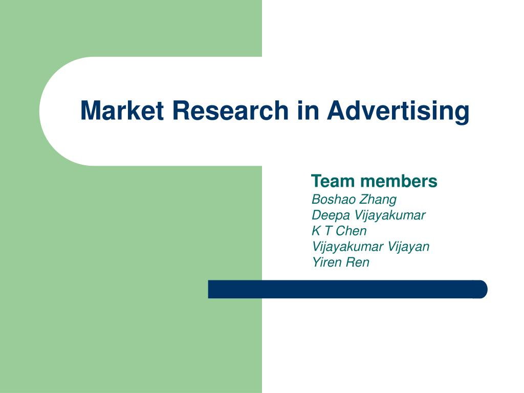 Market Research in Advertising