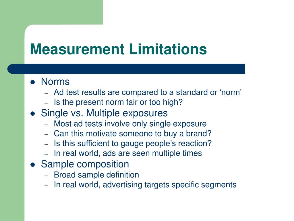 Measurement Limitations