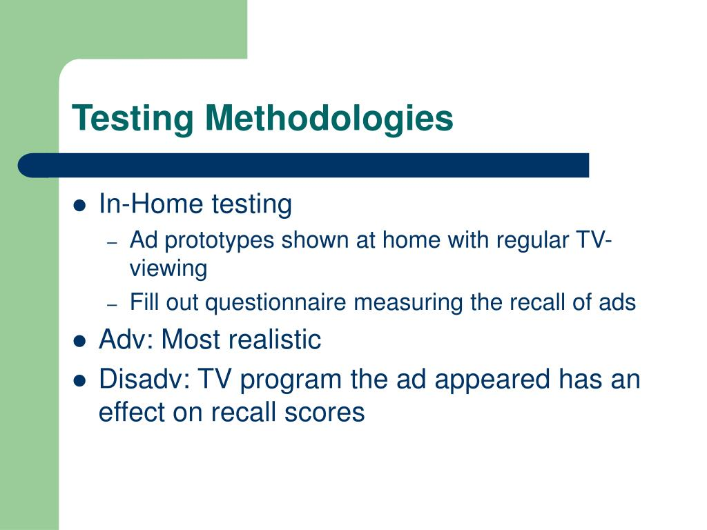 Testing Methodologies