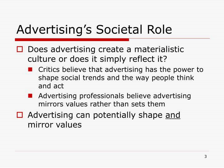 Advertising's Societal Role