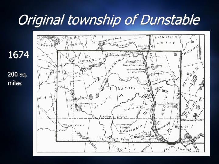Original township of Dunstable