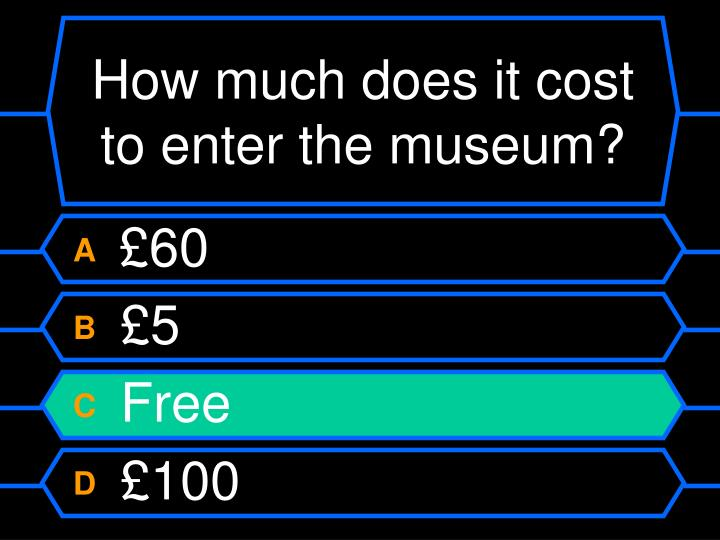 How much does it cost to enter the museum?