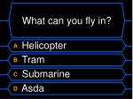 what can you fly in