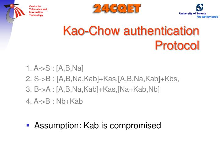 Kao-Chow authentication Protocol
