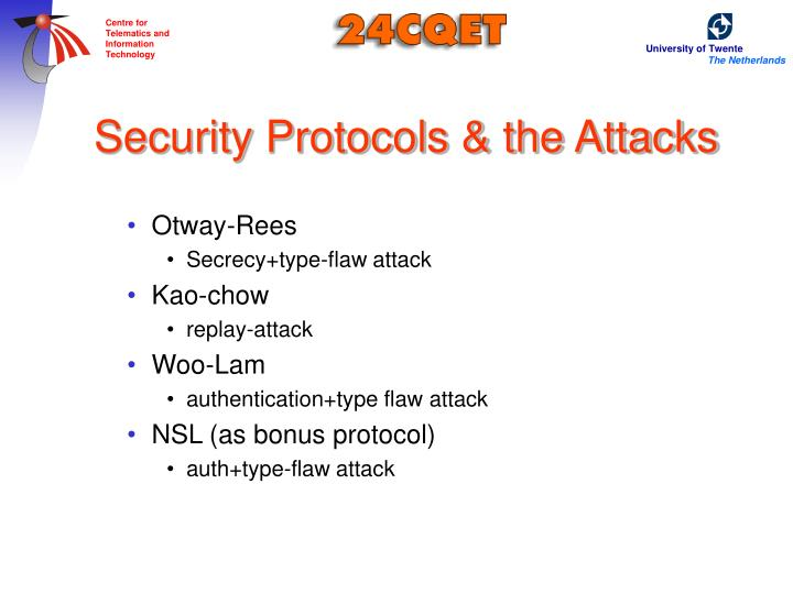 Security Protocols & the Attacks