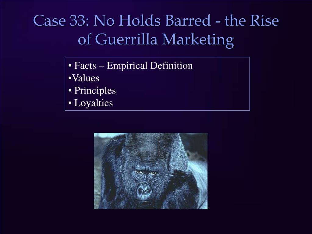 Case 33: No Holds Barred - the Rise of Guerrilla Marketing