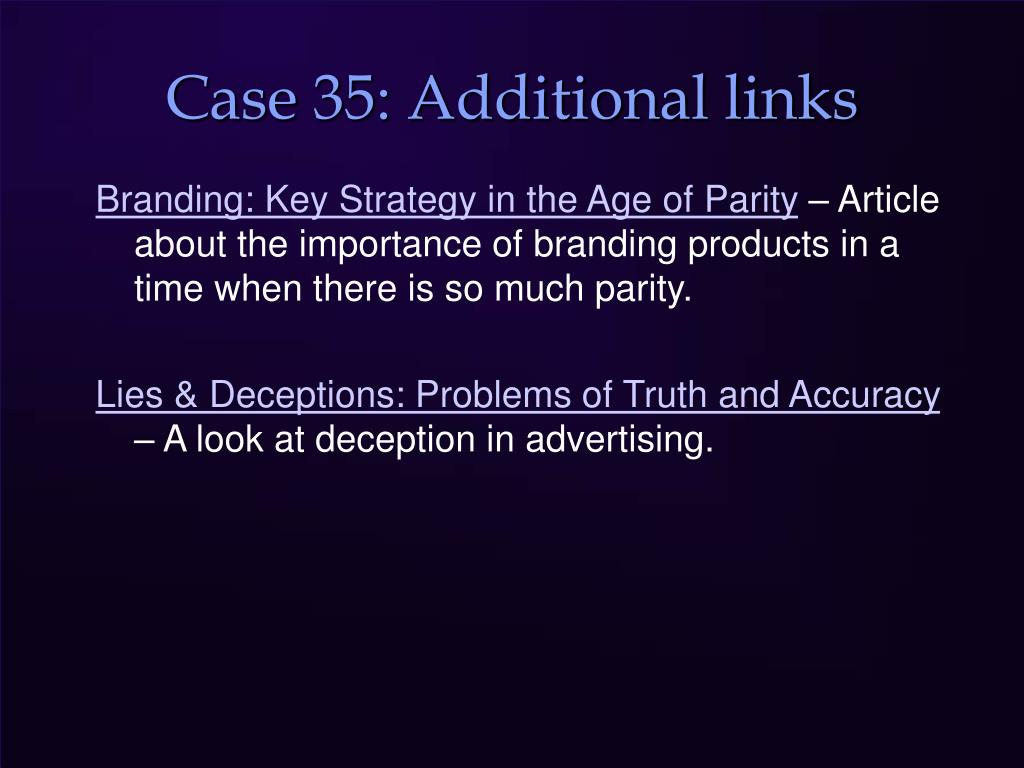 Case 35: Additional links