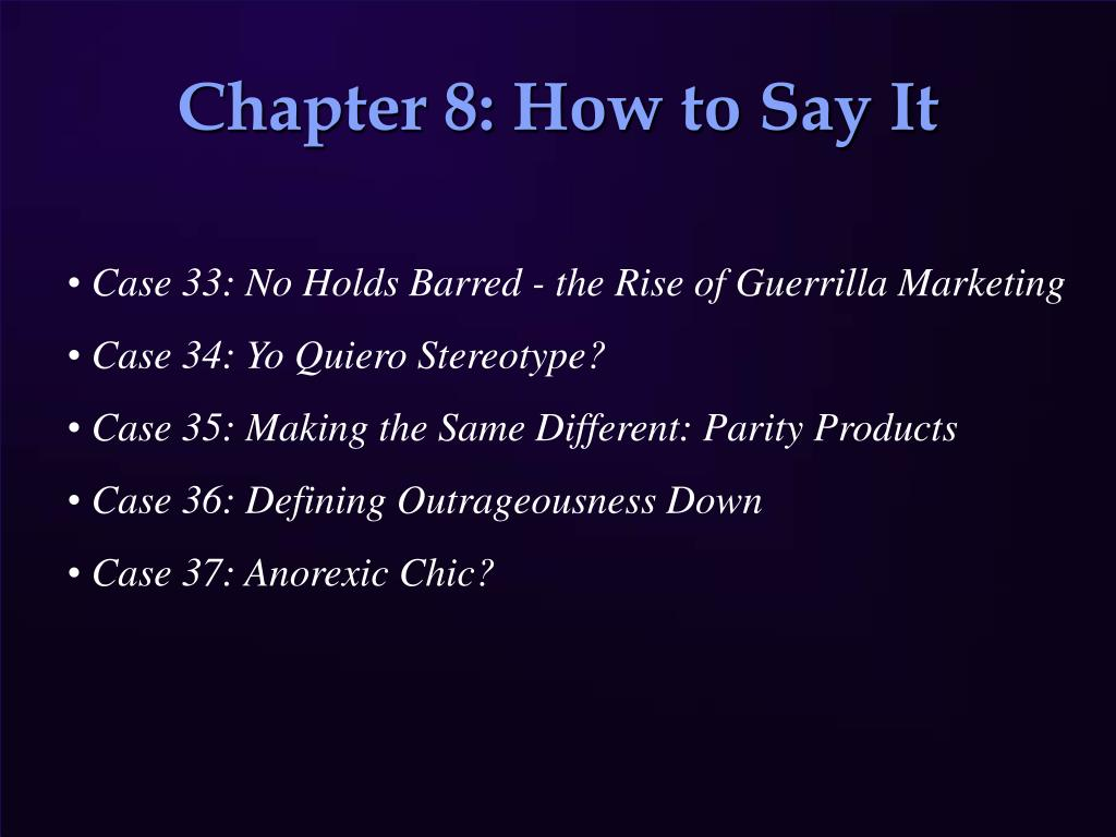 Chapter 8: How to Say It