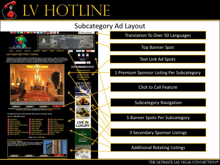 Subcategory Ad Layout