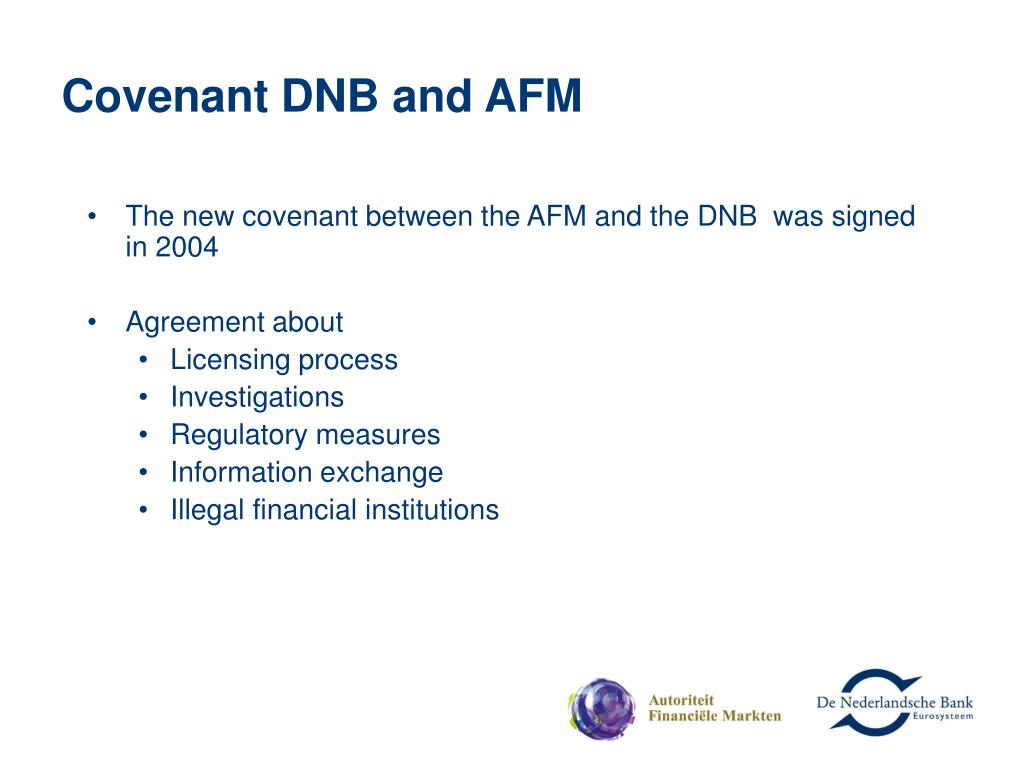 Covenant DNB and AFM