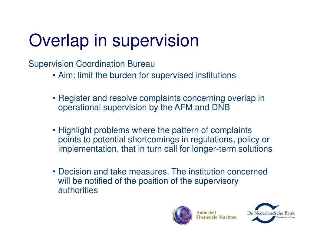Overlap in supervision