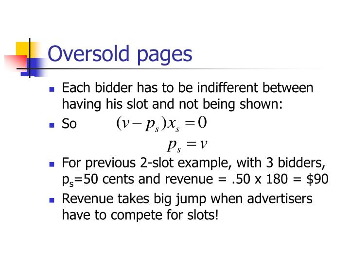 Oversold pages