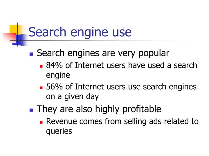 Search engine use