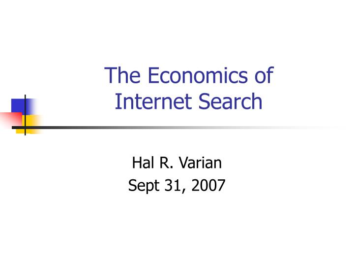 The economics of internet search