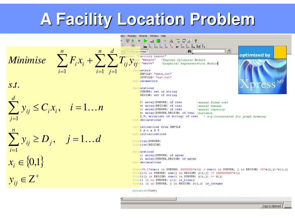 A Facility Location Problem