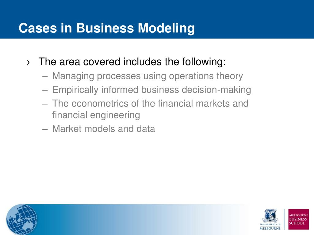 Cases in Business Modeling
