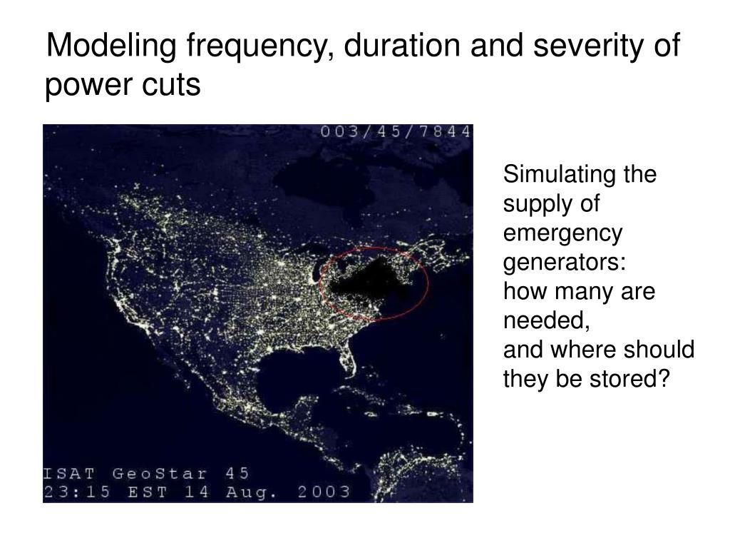 Modeling frequency, duration and severity of power cuts