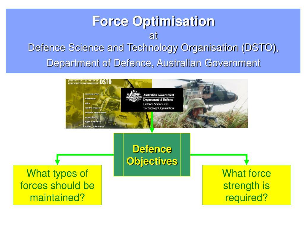 Force Optimisation